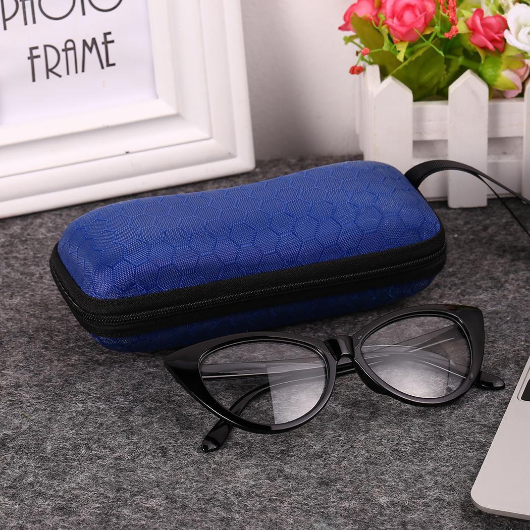 Unisex Fashion Geometric Pattern Zipper Closure Sunglasses Case With Rope