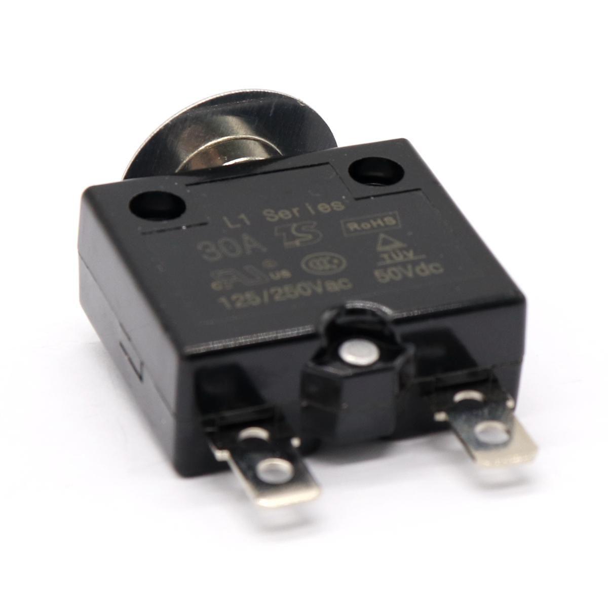 Manual Reset Circuit Breaker 125-250V AC 50V DC Push Button Thermal Circuit Breaker