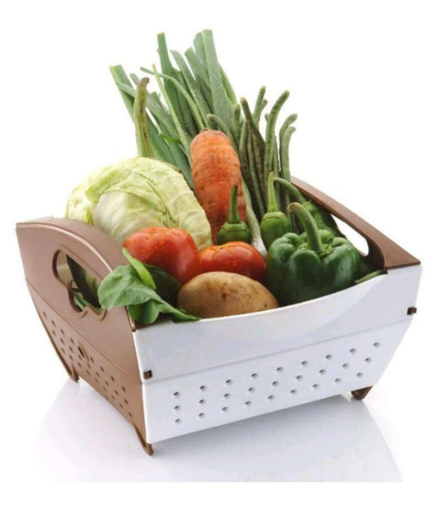 spice kitchenwar Polypropelene Fruit Basket 1 Pcs