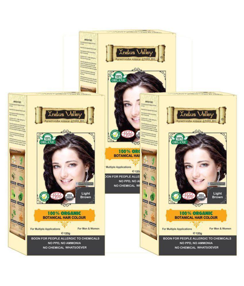 Indus Valley Hair Fibers Light Brown 120 g Pack of 3