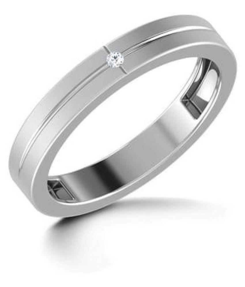 Jaipur Gemstone 92.5 Silver Diamond Ring