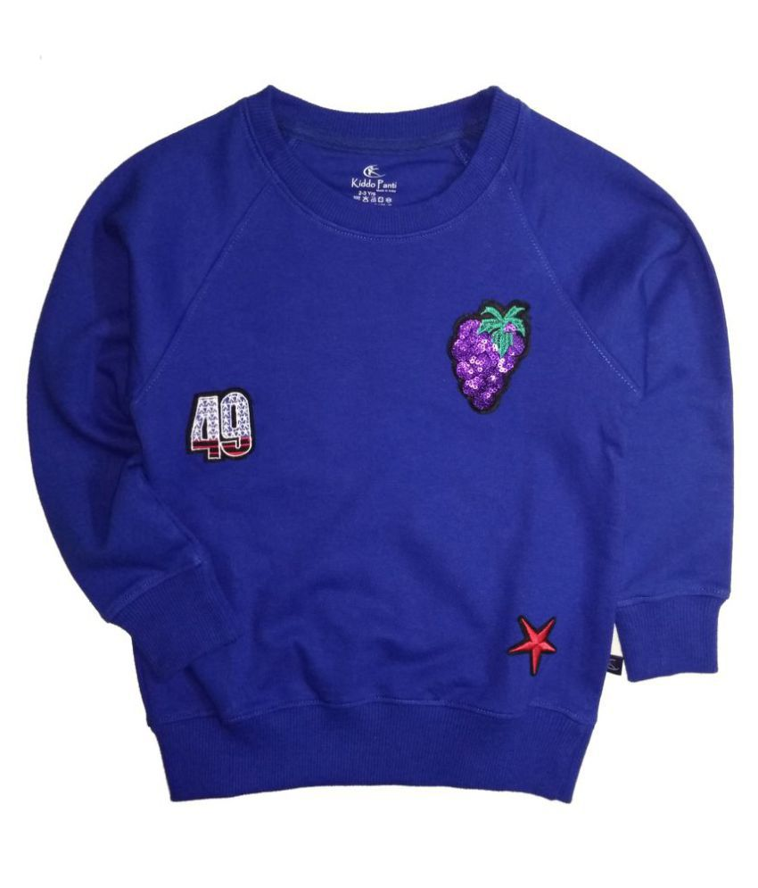 Raglan Sleeve Sweatshirt with Grape Sequence