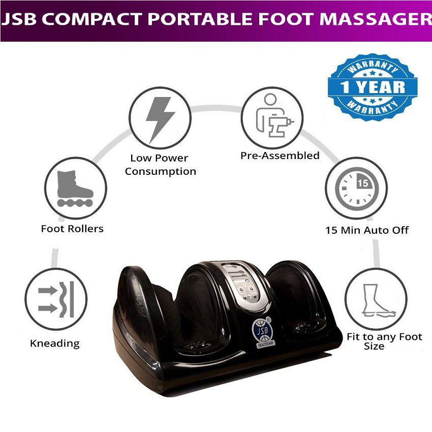 JSB HF28 Compact Portable Foot Massager for Pain Relief