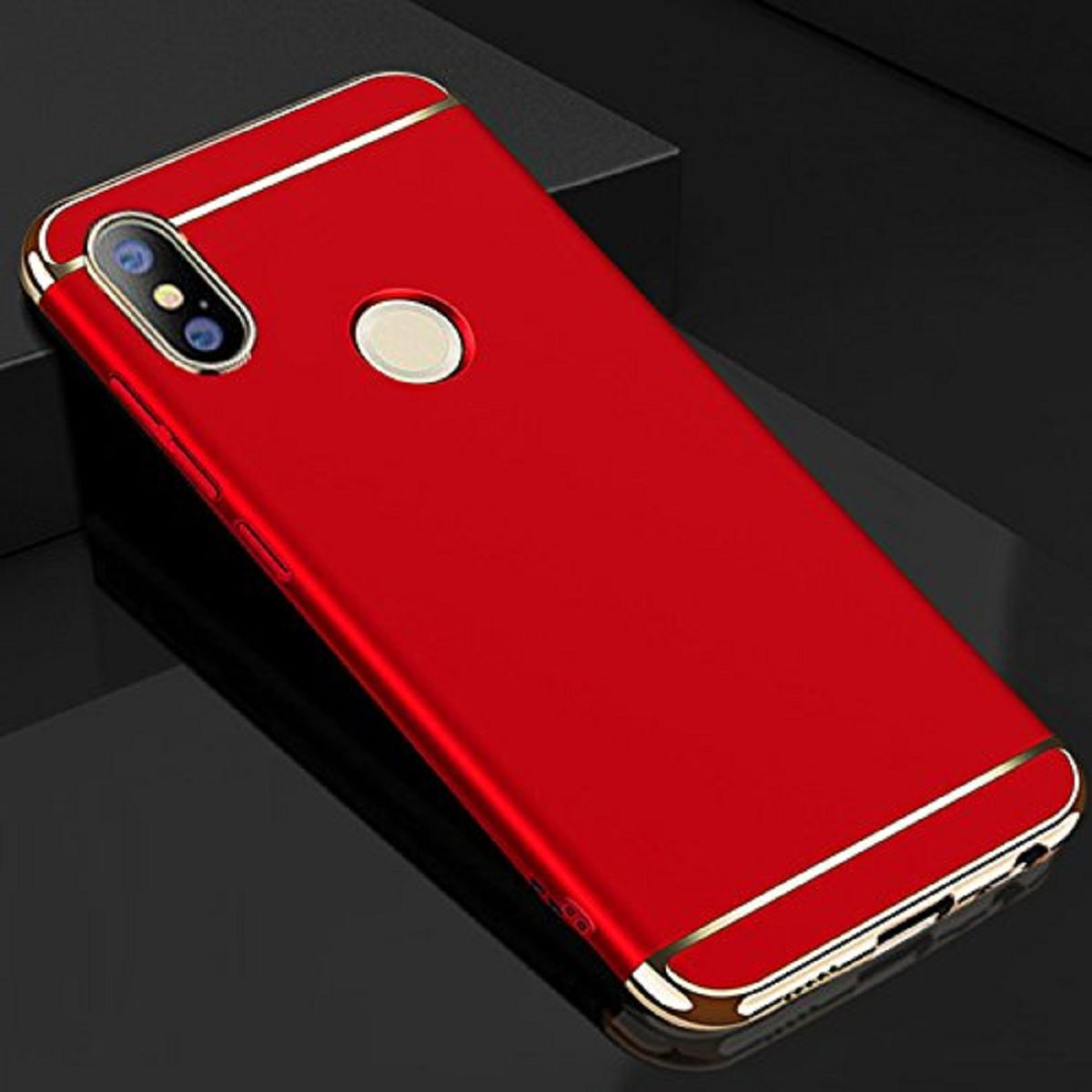 Xiaomi Redmi Note 6 Pro Hybrid Covers Lenis - Red