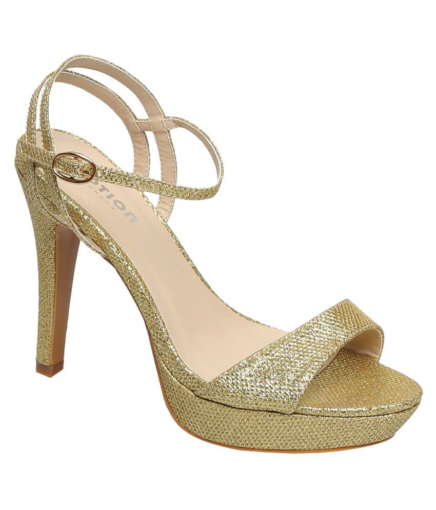 Notion London Gold Cone Heels