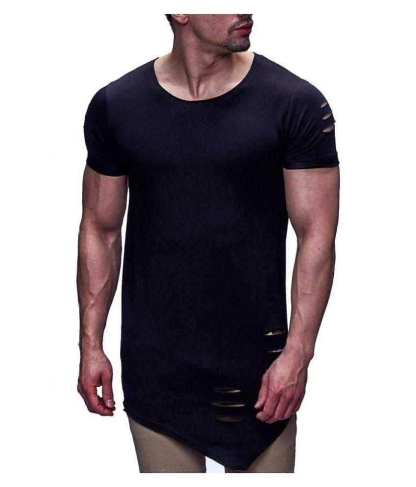 Jhakaas Black Half Sleeve T-Shirt