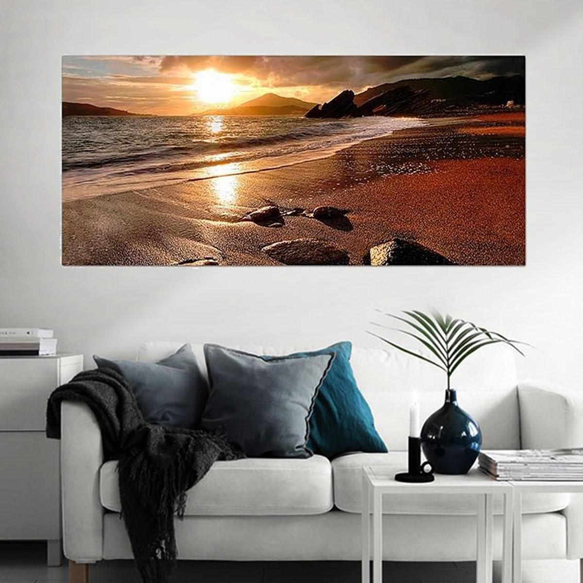 Beach Landscape Painting Canvas