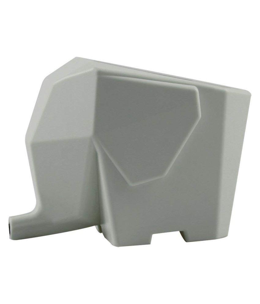 Multi-use high Quality ABS Plastic Kitchen/Bathroom/Washroom/Plant Flower Pot Elephant Shape with Water Drain Hole (Grey)