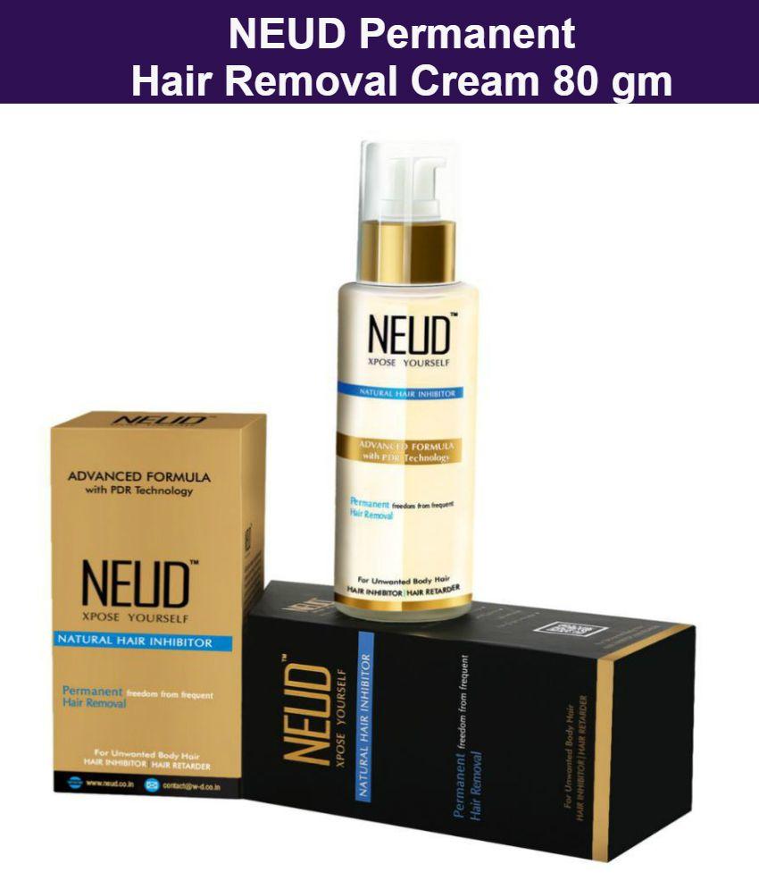 NEUD Natural Hair Inhibitor Permanent Hair Removal Cream 80 g