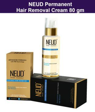 Neud Natural Hair Inhibitor Permanent Hair Removal Cream 80 G Buy