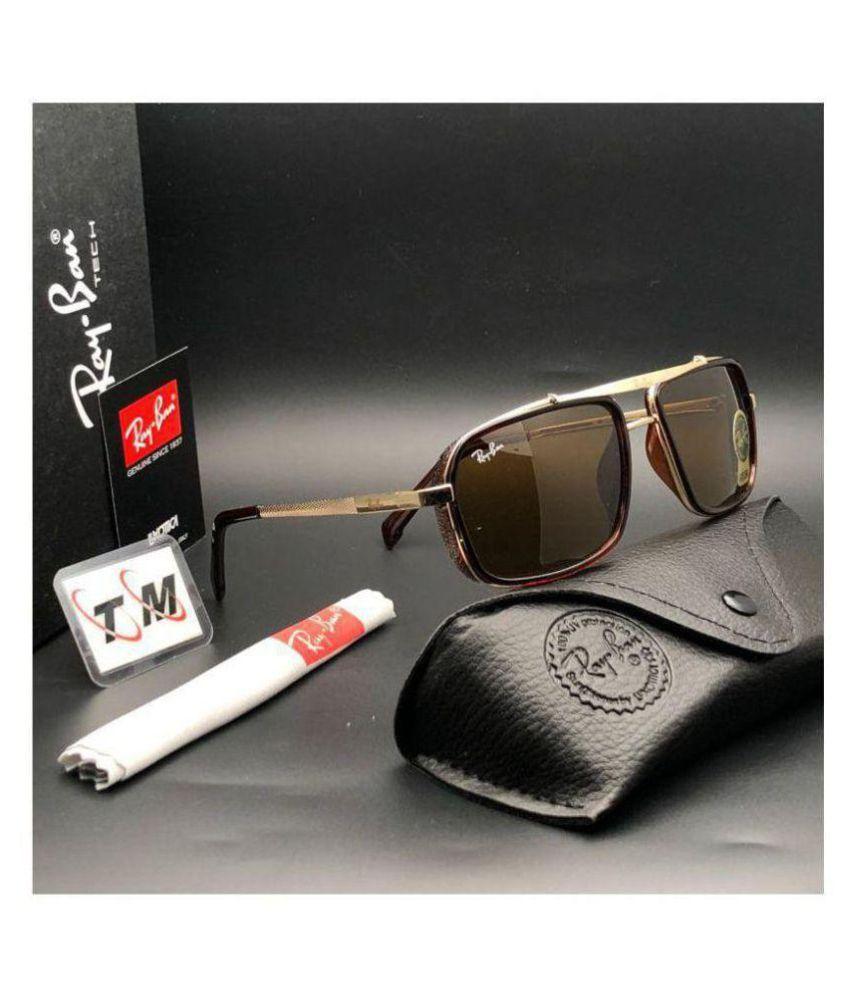 STYLE GURU Brown Square Sunglasses ( 4413 )