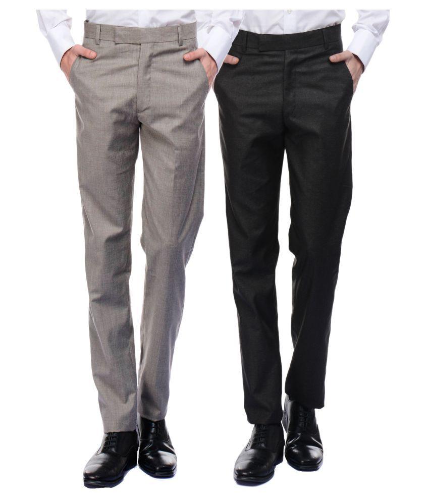 VESTILO Multicolored Slim -Fit Flat Trousers