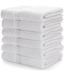 Nova Home Set of 6 Face Towel Combo White (12x12 Inch)