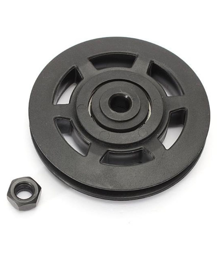1Pc 95mm ABS Bearing Pulley Wheel Cable Gym Equipment Part