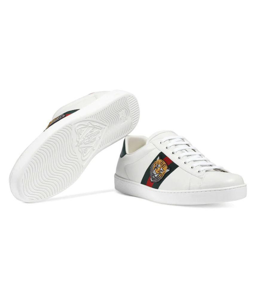 8809d05be7d Gucci White Lifestyle Shoes Price in India- Buy Gucci White ...