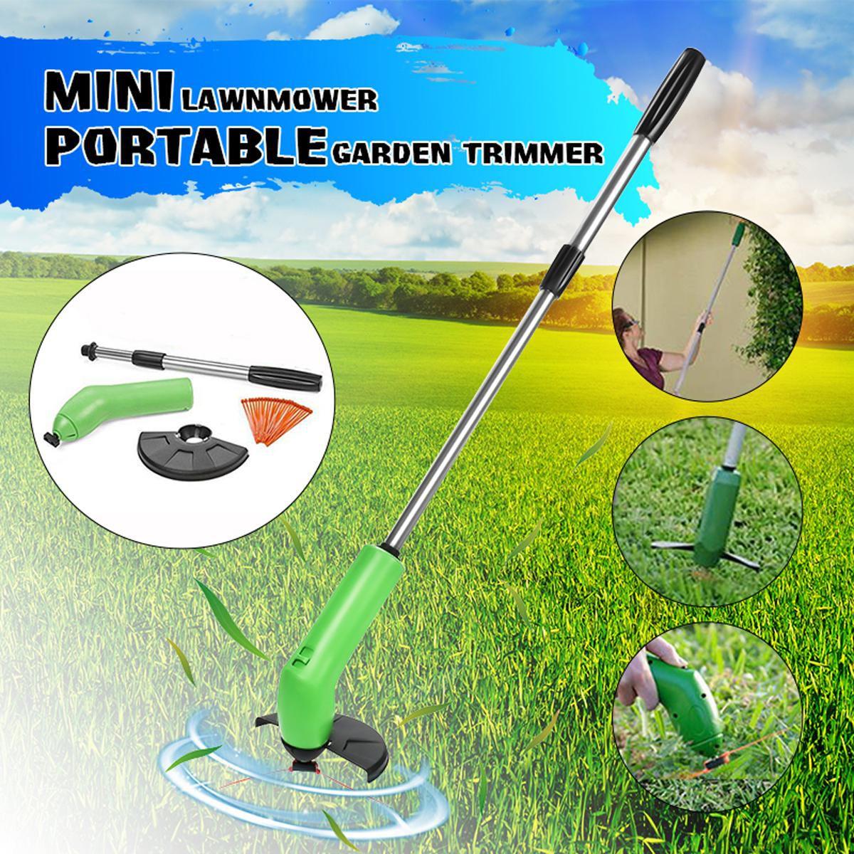 Mini Garden Zip Trim Portable Cordless Trimmer Lawn Mower Grass