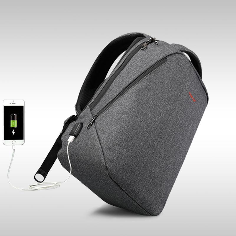 Tigernu 17 inch anti theft USB charge laptop bag
