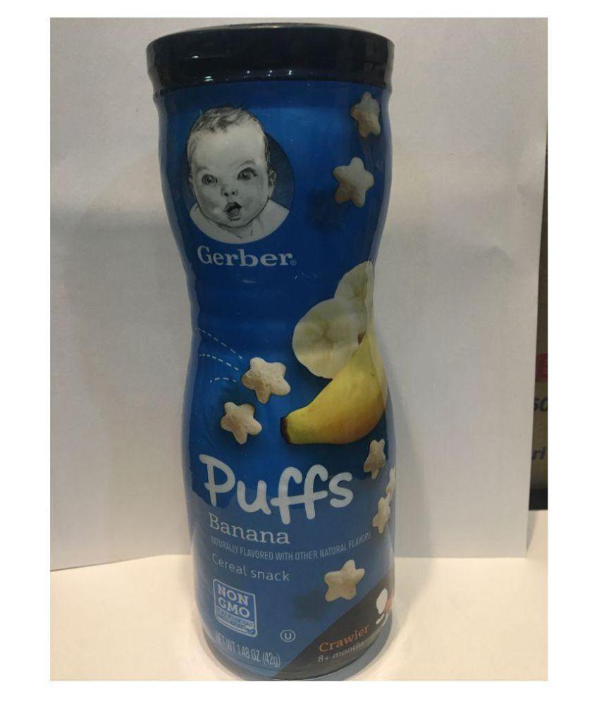 Gerber Baby Food BANANA Snack Foods for 6 Months + ( 42 gm )