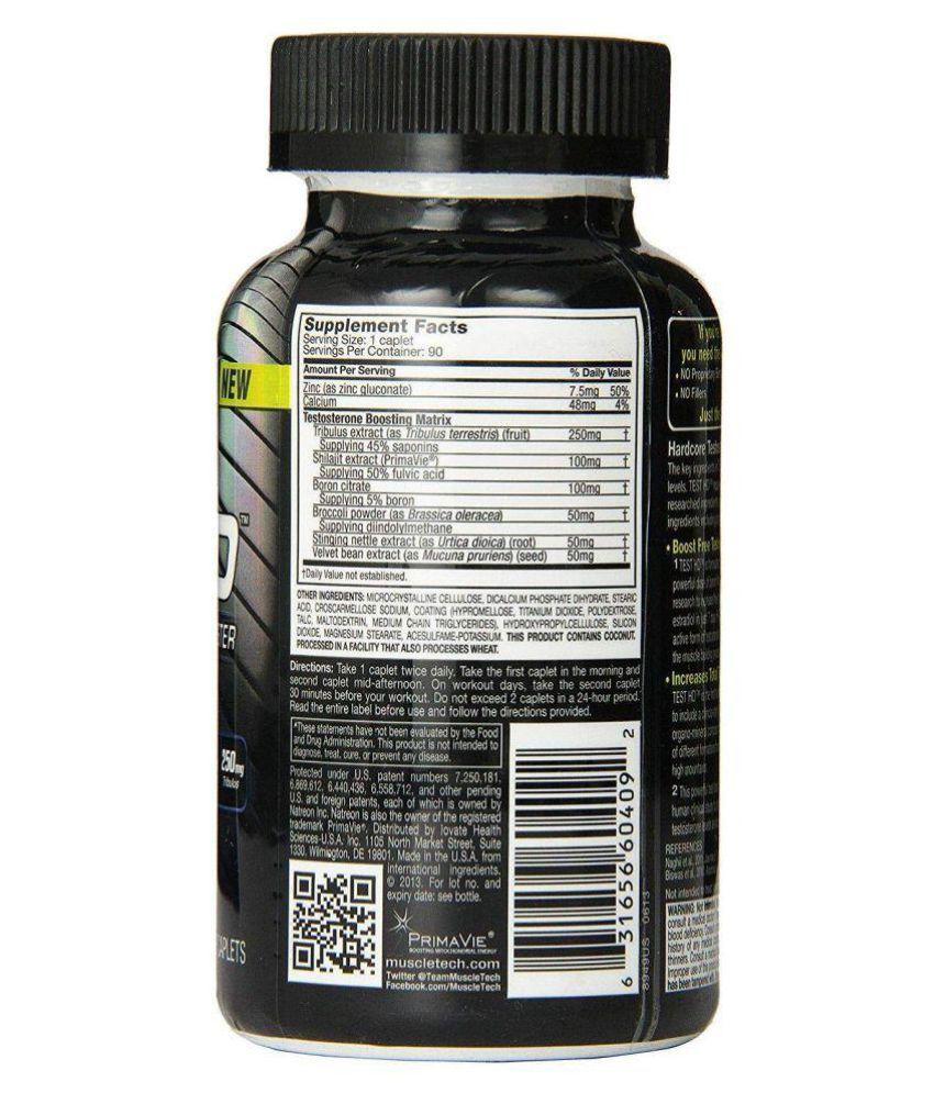Muscletech Test HD Testosterone Booster Caplets 90 no.s Multivitamins Tablets: Buy Muscletech