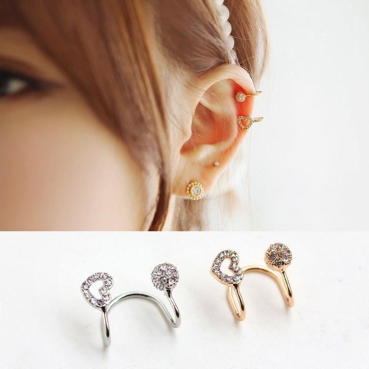 Fashion trendsetter love ball diamond earrings