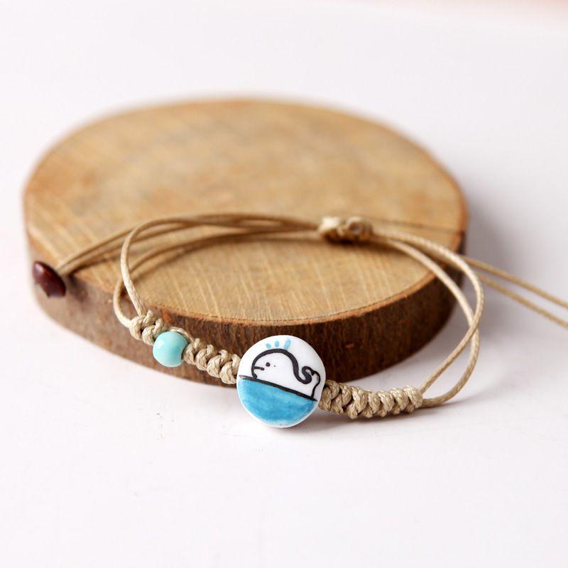 YOLO Fashion Beige Hand-Woven Ceramic Bracelet Jewellery Accessories