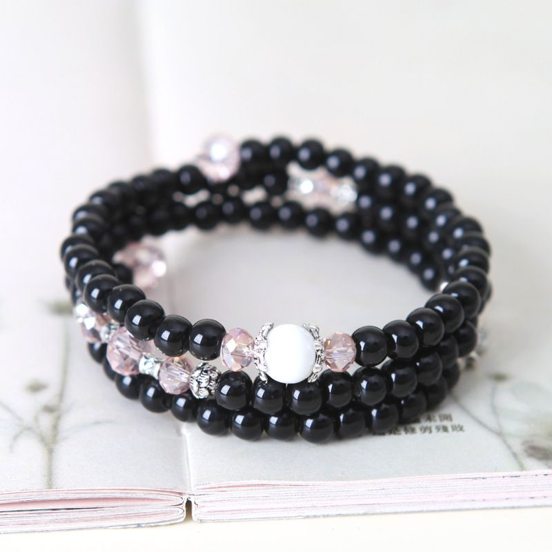 YOLO Fashion Purple HandMade DIY Multilayer Crystal Ceramic Hand Bracelet Jewellery Accessories
