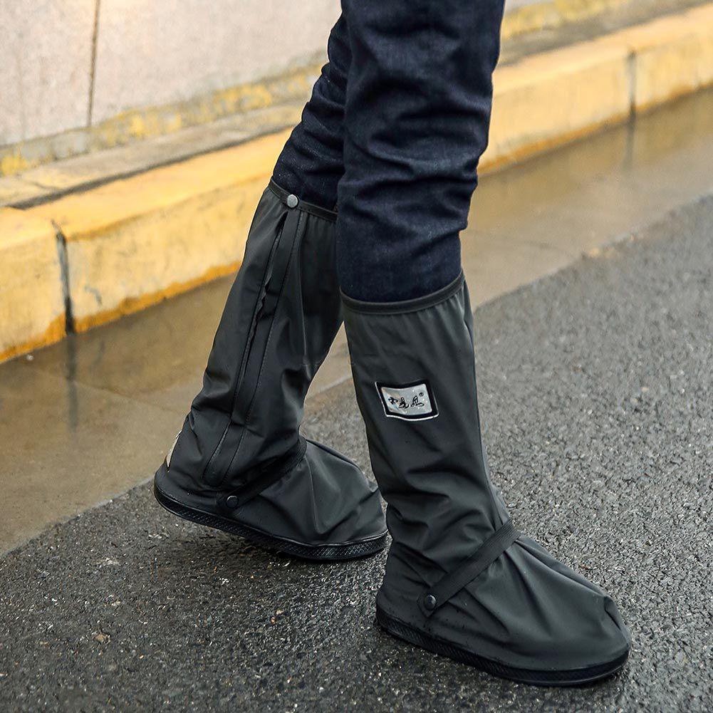 Mens Reusable Rain Shoe Covers Anti
