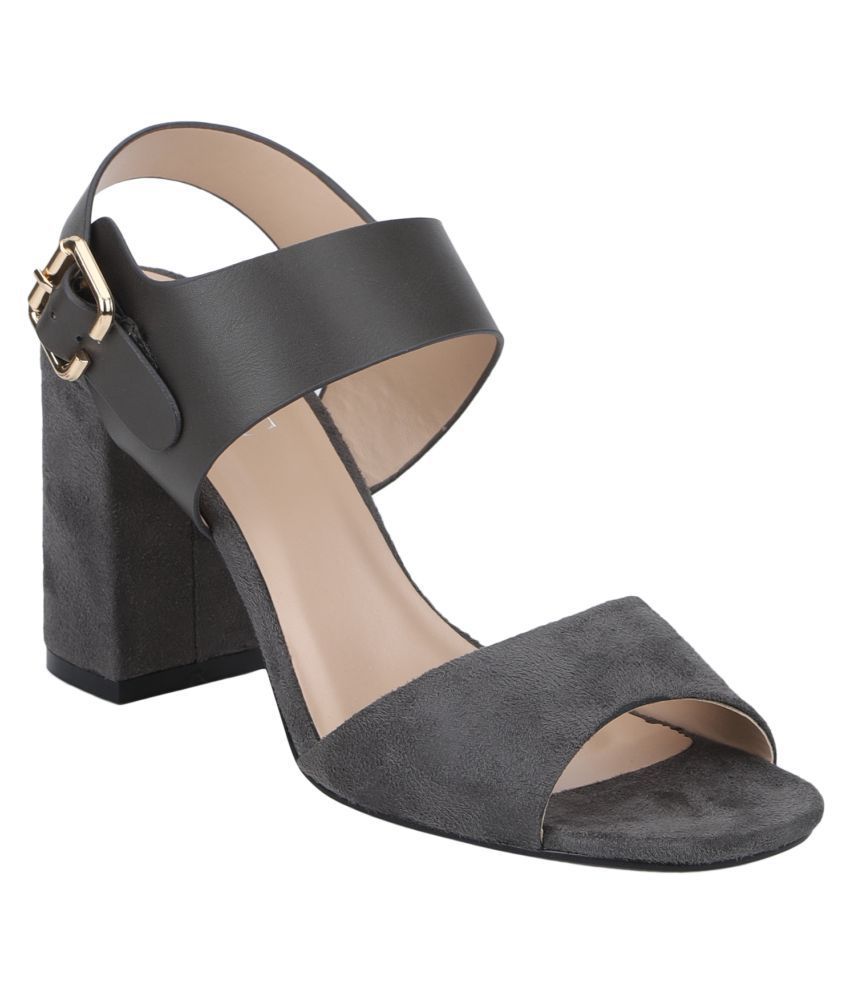 Mode By Red Tape Gray Block Heels