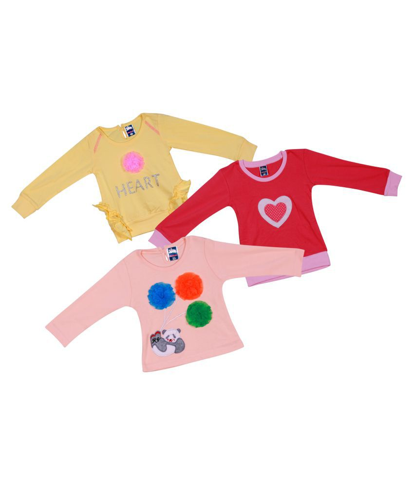 Me N My Latest Fashion tops Sets ( SETS OF 3 ) Baby Combo Dress