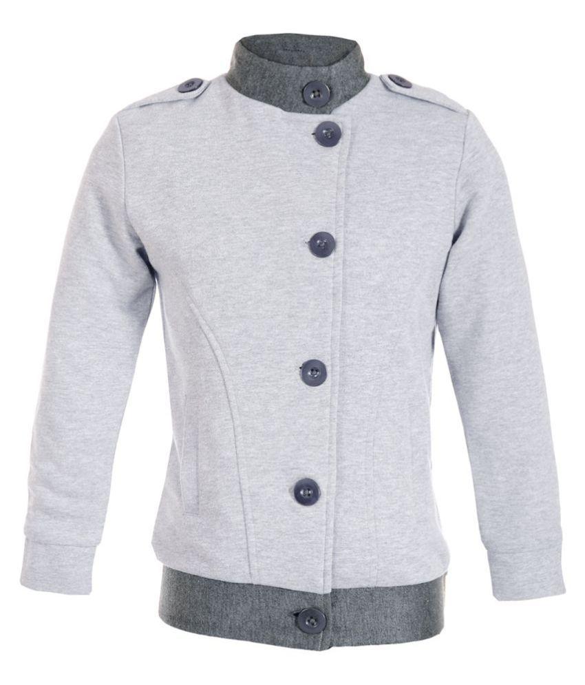Naughty Ninos Girls Grey Melange Fleece Sweatshirt