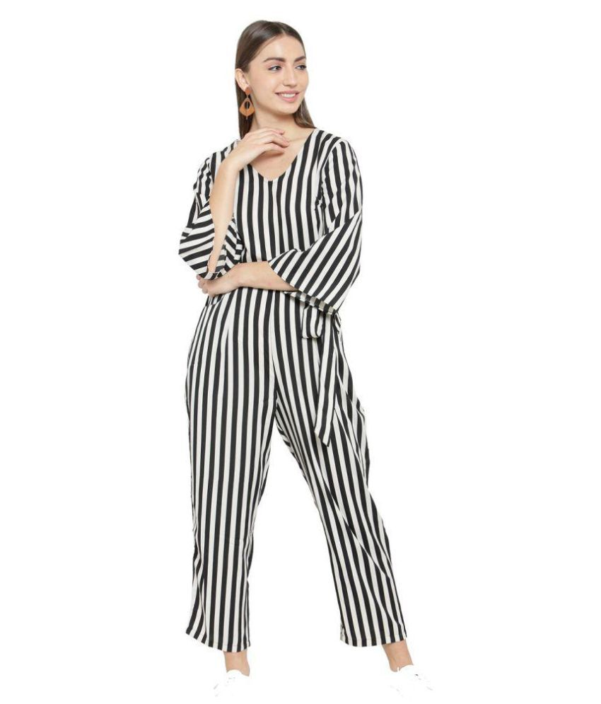 TUNIC NATION Black Crepe Jumpsuit