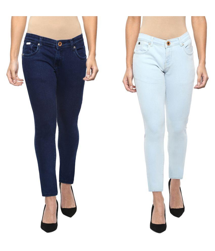 Urban Navy Denim Lycra Jeans - Multi Color