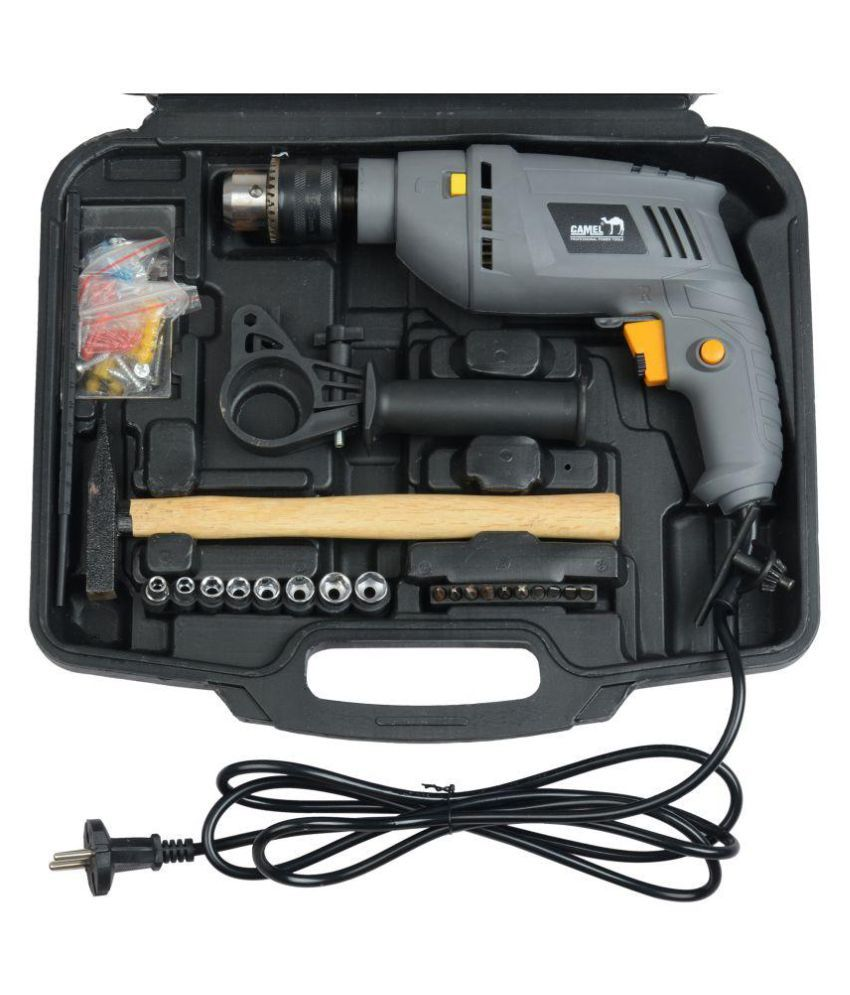 f2f4d0d1ac7 ... Camel 13mm 850W Impact Drill Machine Tool Kit Box With Reversible  Function (100+ ...