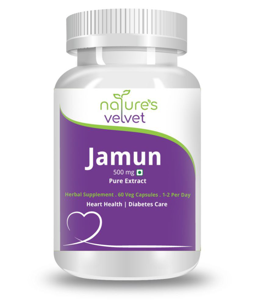 Natures velvet lifecare  Jamun Pure Extract (500 mg) Capsule 60 no.s Pack Of 1
