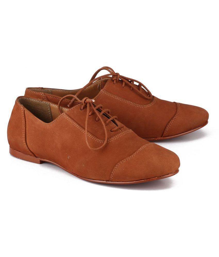 MY MY! Tan Casual Shoes