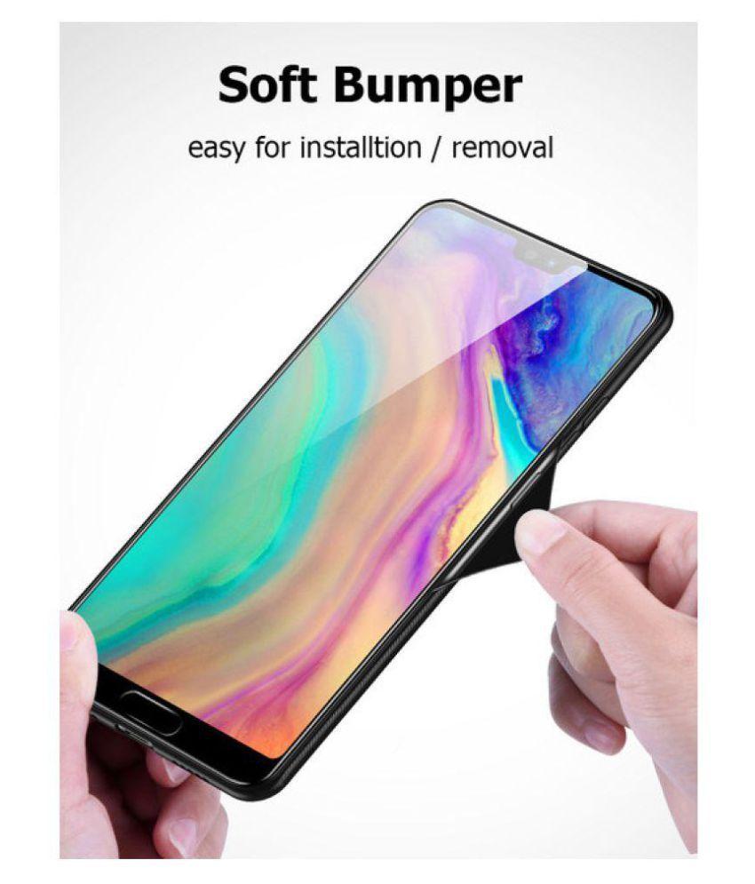 Samsung Galaxy A7 2018 Glass Cover shopyholik - Black Glass Case