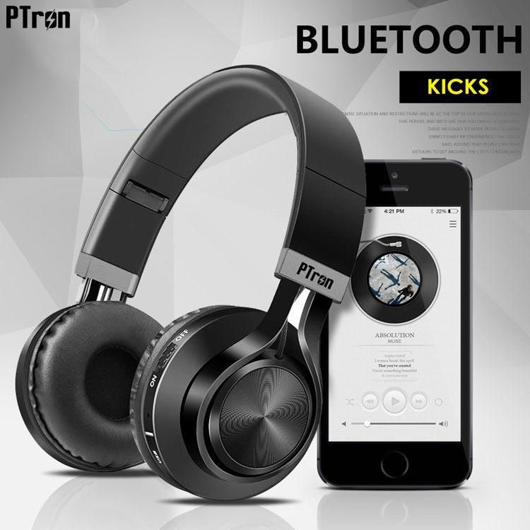 e57cc33ad8a PTron Kicks Bluetooth Headset - Black - Buy PTron Kicks Bluetooth Headset -  Black Online at Best Prices in India on Snapdeal