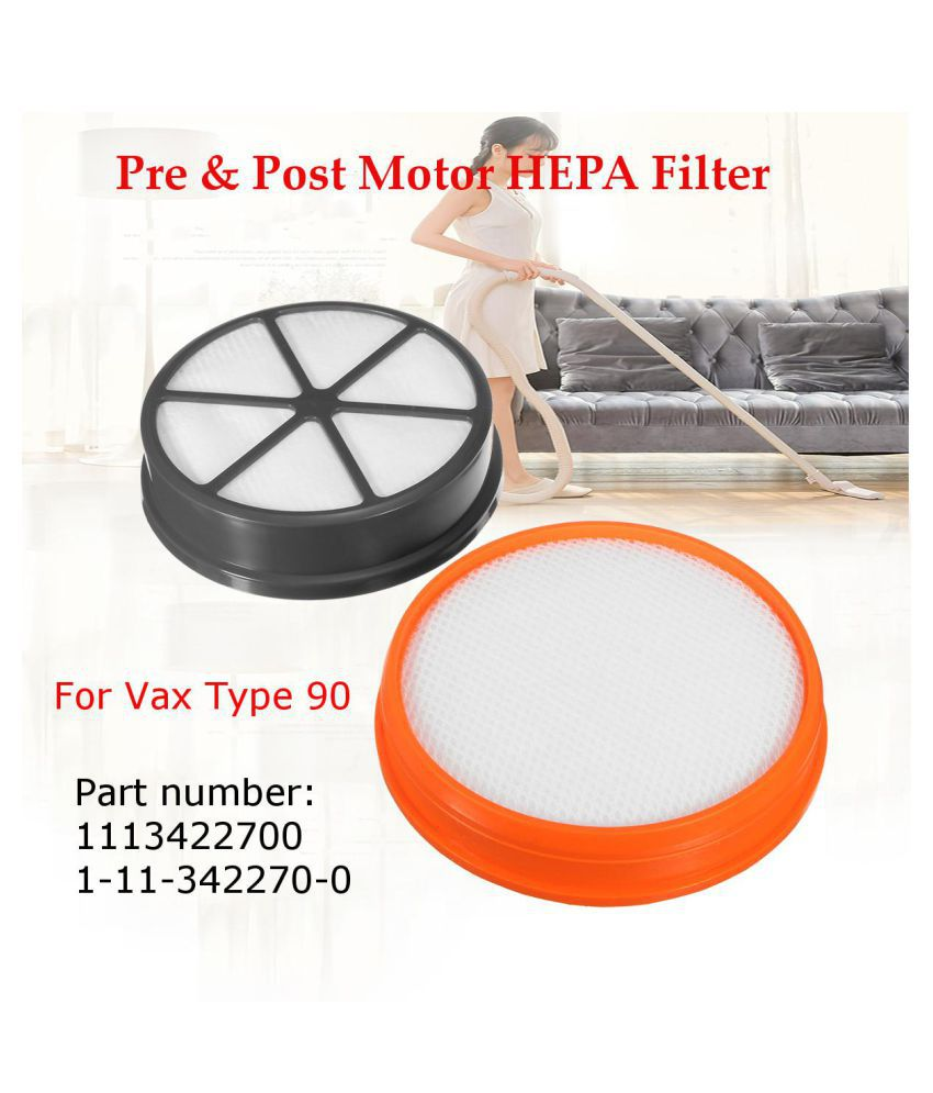 Type 90 Pre & Post Motor HEPA Filter Set Replacement Kit For Vax Vacuum Cleaner