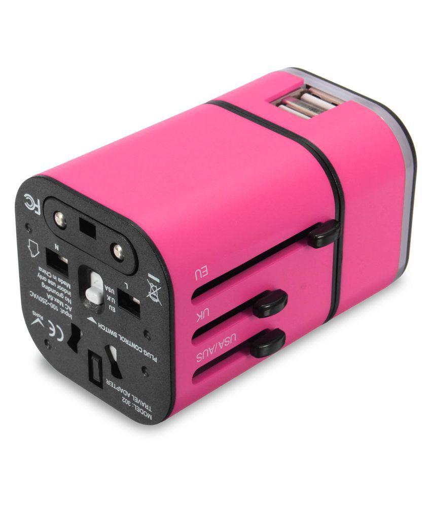 USB Universal Travel AC Power Charger Adapter International World Converter with AU US UK EU Plug