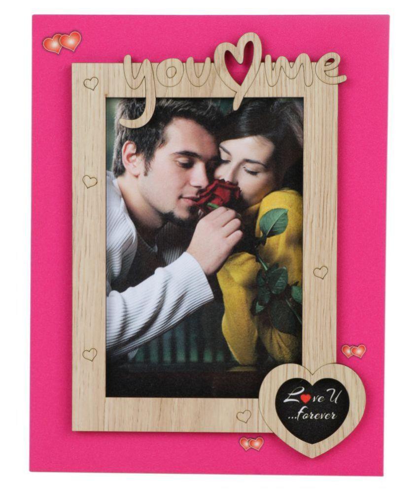 Tiamo Wood Pink Single Photo Frame - Pack of 1