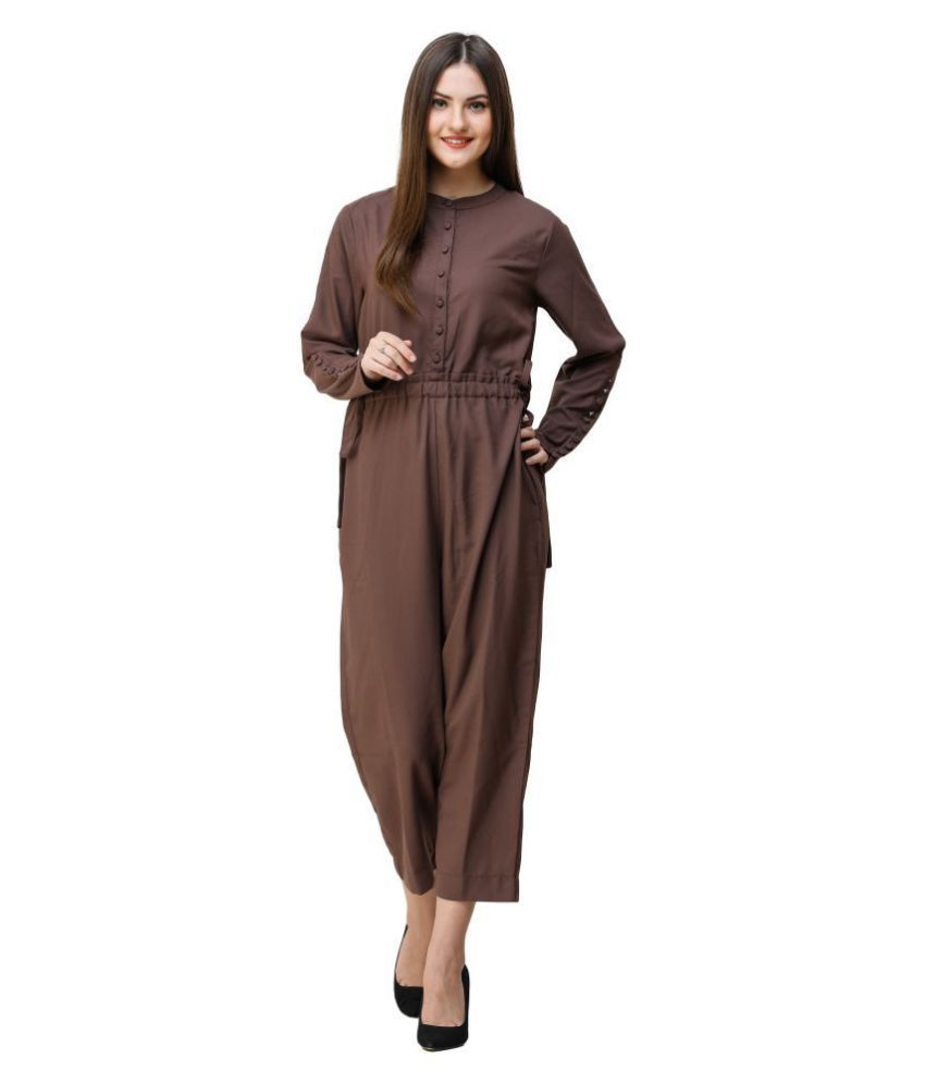 Silk Route London Brown Polyester Jumpsuit