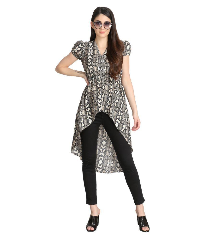 Siphon Crepe Grey A- line Dress