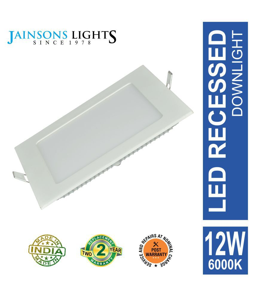 Jainsons Lights 12W Square Ceiling Light 17.5 cms. - Pack of 1