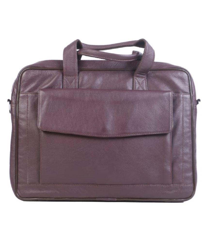 Modello Crafts Tan Leather Briefcase