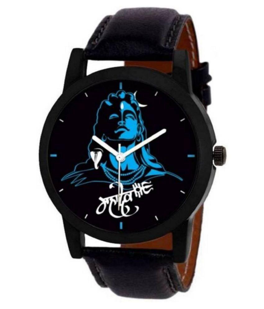 eseller New Mahadev 01 Leather Analog Watch for Men