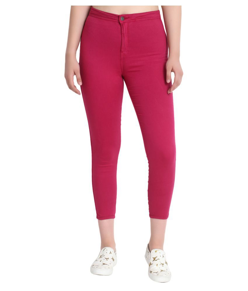 kotty Cotton Jeans - Red