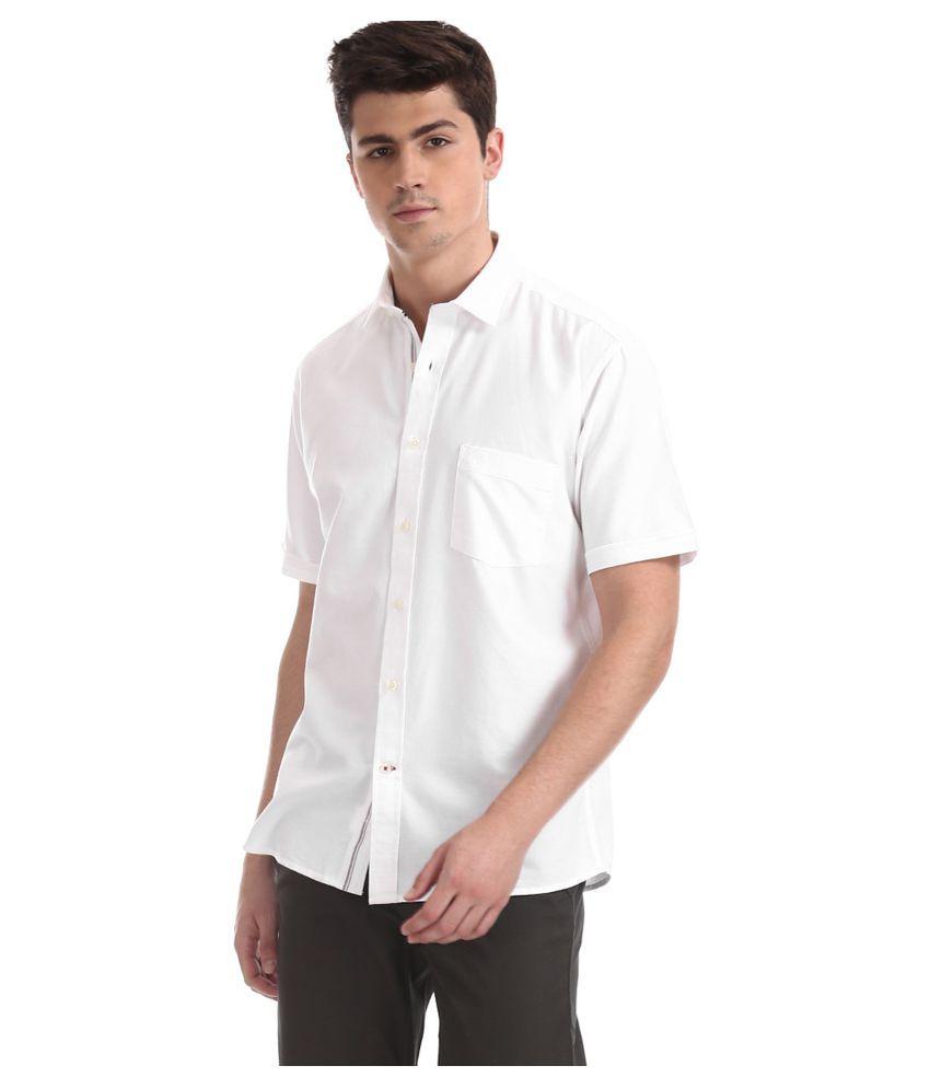 Arrow 100 Percent Cotton White Solids Shirt