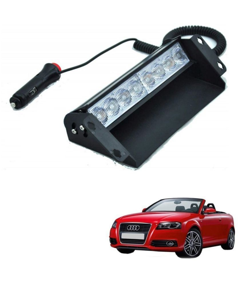 Auto Addict Car 8 LED Police Lights Flasher Light Red Blue Interior Lighting For Audi A3 Cabriolet
