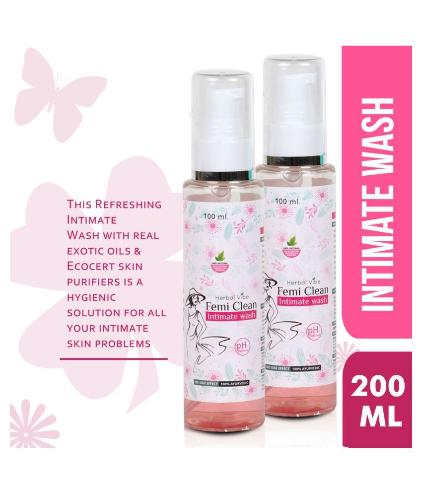 Herbal Vibe Intimate Wash Intimate Cleansing Spray Strawberry 100 mL Pack of 2