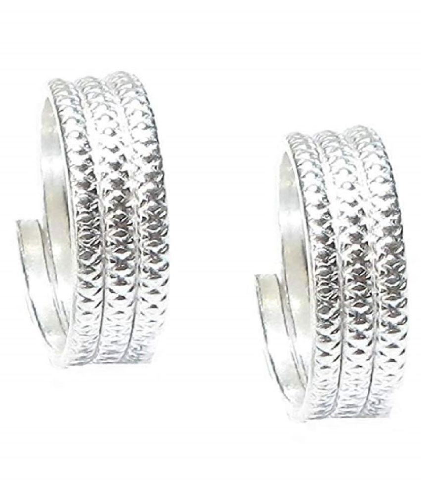 Toe Ring Sterling Silver Abstract Pattern Design Toe Ring Adjustable Jewelry for Women. (016)